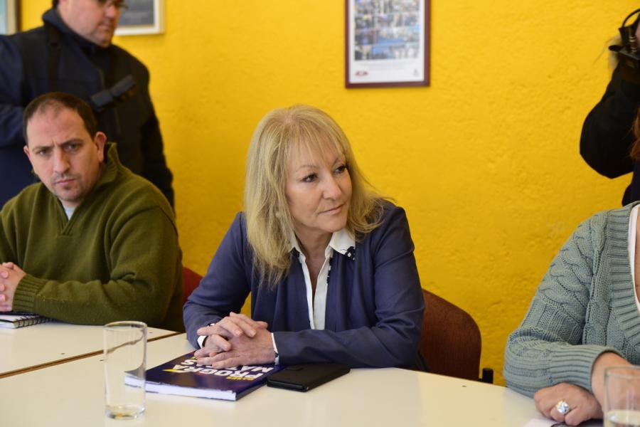 Cosse-Andrade junto al Secretariado del Pit Cnt