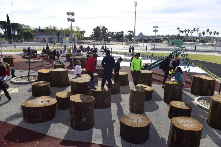 Inauguración del parque del Antel Arena