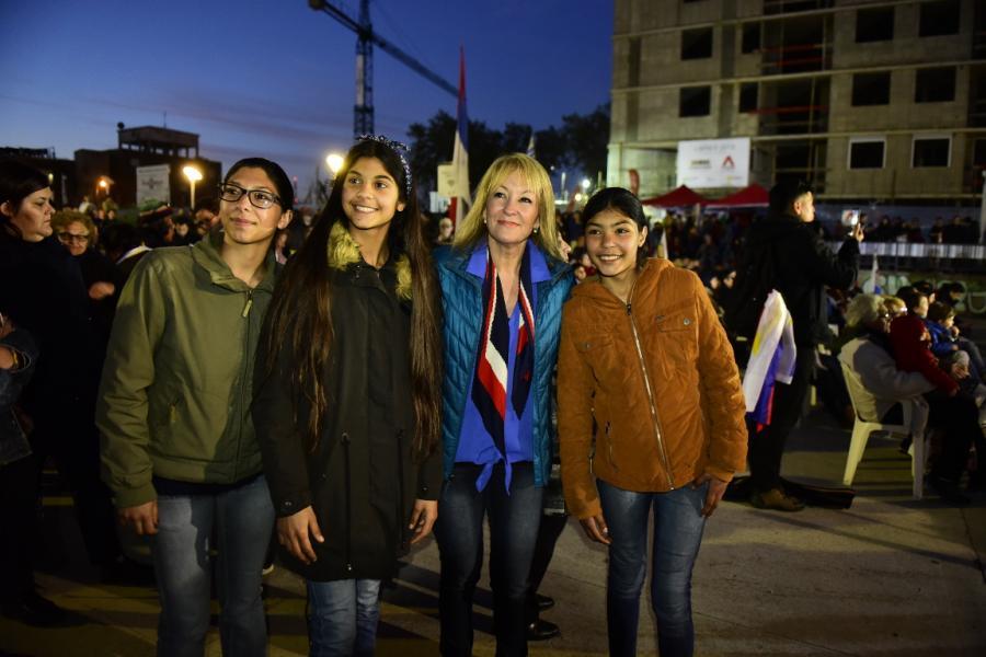 """Acto 1001 en plaza José """"Pepe"""" D'Elía"""