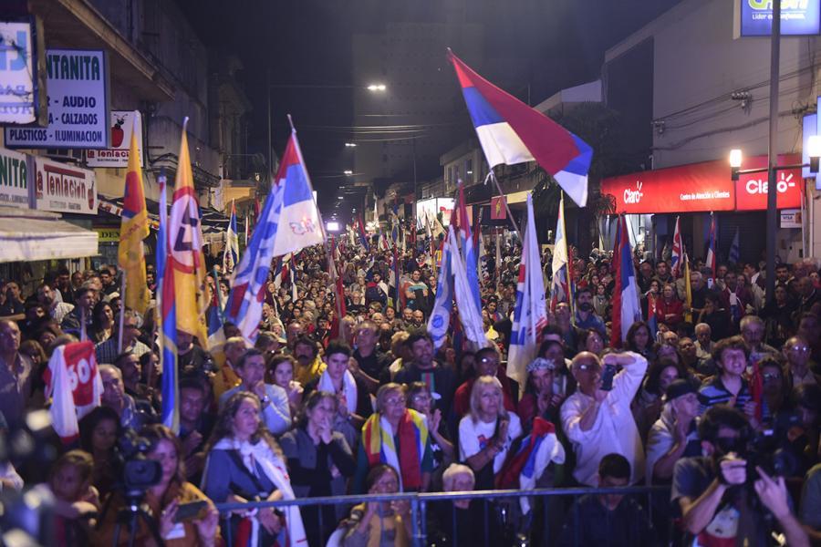 Acto central del FA en Melo, Cerro LargoActo