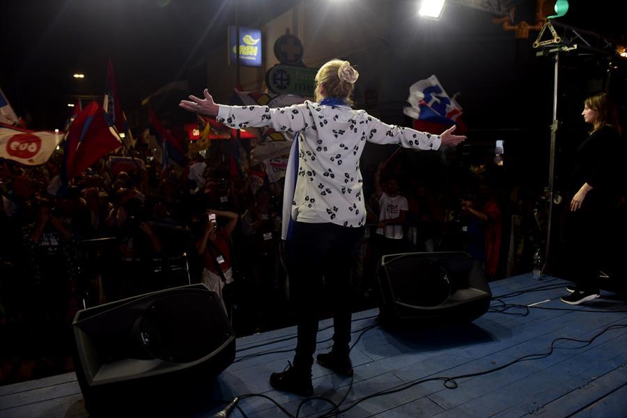 Acto central del FA en Melo, Cerro Largo