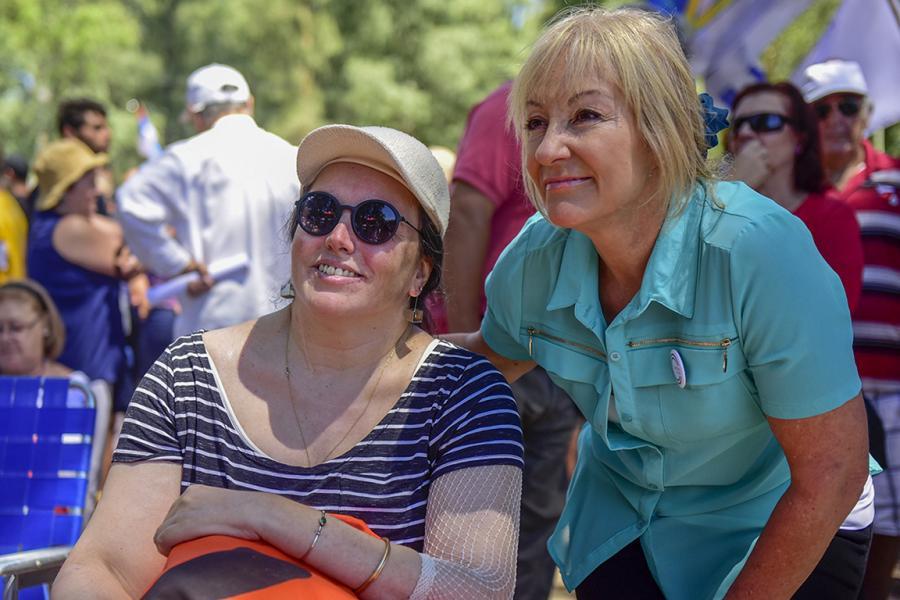 Actividad de sensibilidad de cara al #8M en el Parque Rivera