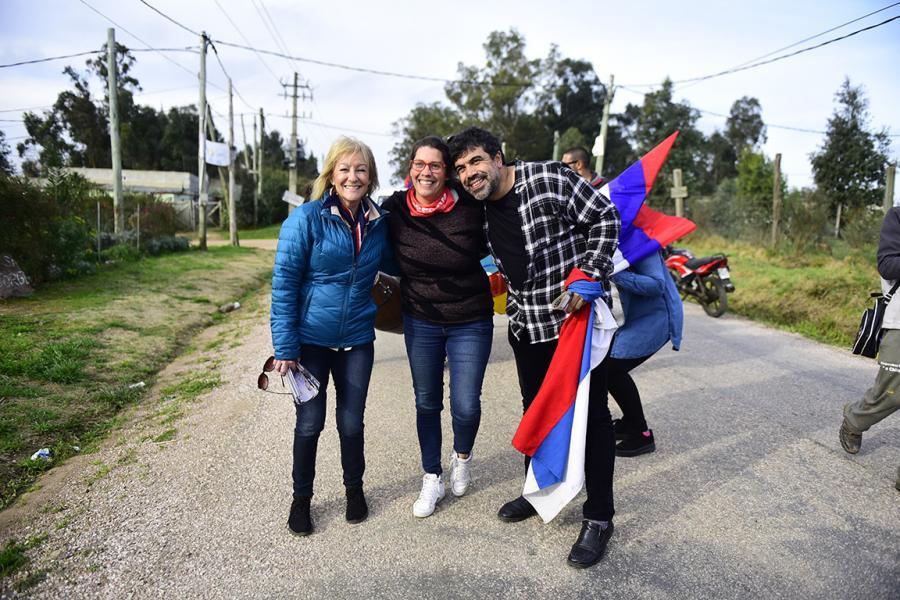 Barriada en La Capuera-Maldonado junto a Oscar Andrade