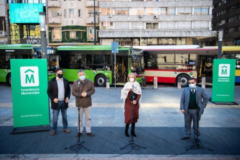 Nuevos ómnibus híbridos en Montevideo