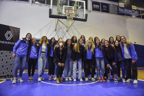 Lanzamiento del Plantel Mayor del Basketball Femenino en Club Malvín