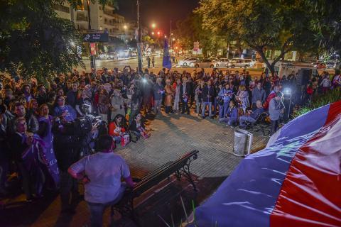 Encuentro en Bulevar y Bulevar para recordar el mensaje de paz y esperanza de nuestro general.